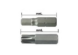 Screwdriver Bits - series 1200 (1/4,6.35mm)